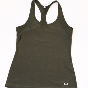 Under Armour Olive Green Women's Racer Back Tank S
